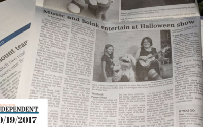 Alison and Boink are featured in the Farmington Independent